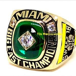 2000 U OF MIAMI HURRICANES BIG EAST BASKETBALL CHAMPIONSHIP RING