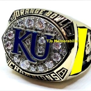 2008 KANSAS JAYHAWKS ORANGE BOWL CHAMPIONSHIP RING