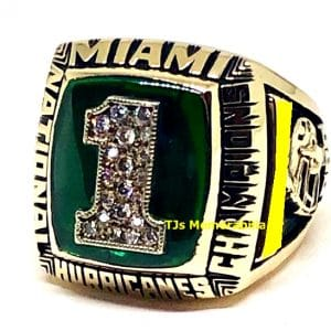 1989 MIAMI HURRICANES FOOTBALL NATIONAL CHAMPIONSHIP RING