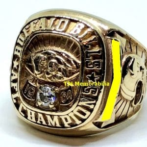 1964 BUFFALO BILLS AFL AMERICAN FOOTBALL LEAGUE CHAMPIONSHIP RING