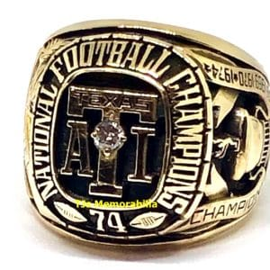 1974 TEXAS A&M KINGSVILLE JAVELINAS FOOTBALL NATIONAL CHAMPIONSHIP RING