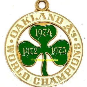 1974 OAKLAND A'S WORLD SERIES CHAMPIONSHIP PENDANT / CHARM NOT RING