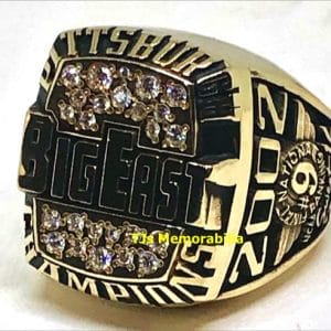 2002 PITTSBURGH PANTHERS BIG EAST BASKETBALL CHAMPIONSHIP RING