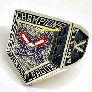 2005 OREM OWLZ ANAHEIM ANGELS PIONEER LEAGUE CHAMPIONSHIP RING
