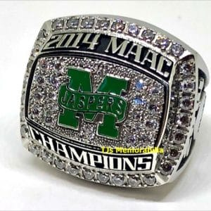 2014 MANHATTAN JASPERS MAAC BASKETBALL CHAMPIONSHIP RING