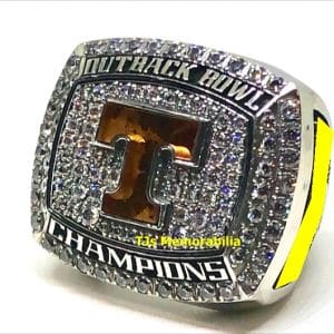2016 TENNESSE VOLS OUTBACK BOWL CHAMPIONSHIP RING