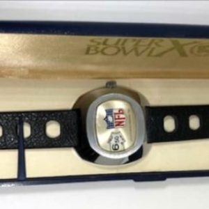 1976 PITTSBURGH STEELERS & DALLAS COWBOYS SUPER BOWL X CHAMPIONSHIP WATCH NOT RING