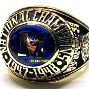 1947 MICHIGAN WOLVERINES FOOTBALL NATIONAL CHAMPIONSHIP RING