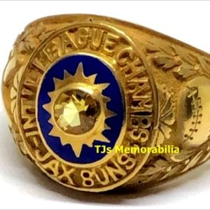 1964 JACKSONVILLE SUNS ST LOUIS CARDINALS INTERNATIONAL LEAGUE CHAMPIONSHIP RING