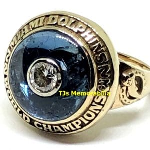1973 MIAMI DOLPHINS BACK TO BACK SUPER BOWL VIII CHAMPIONSHIP RING