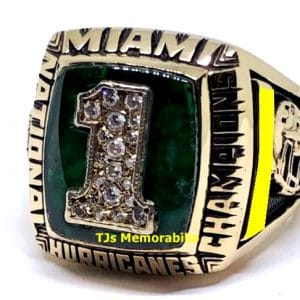 1989 U OF MIAMI HURRICANES FOOTBALL NATIONAL CHAMPIONSHIP RING – PLAYER