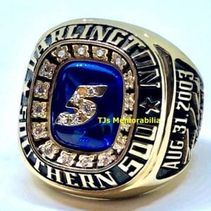 2003 NASCAR DARLINGTON SOUTHERN 500 WINNERS CHAMPIONSHIP RING