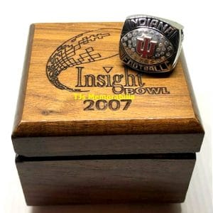2007 INDIANA HOOSIERS INSIGHT BOWL CHAMPIONSHIP RING WITH PRESENTATION BOX