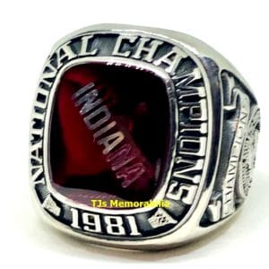 1981 INDIANA HOOSIERS NCAA BASKETBALL NATIONAL CHAMPIONSHIP RING