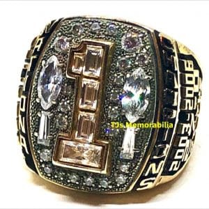 2006 APPALACHIAN STATE MOUNTAINEERS FOOTBALL BACK TO BACK NATIONAL CHAMPIONSHIP RING