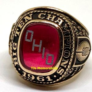 1961 OHIO STATE BUCKEYES FOOTBALL BIG TEN CHAMPIONSHIP RING
