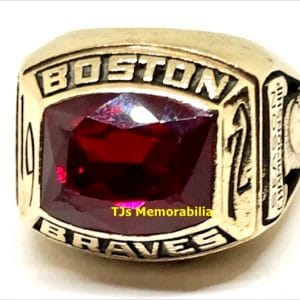 1972 BOSTON BRAVES AMERICAN HOCKEY LEAGUE AHL CHAMPIONSHIP RING
