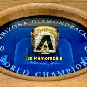 2001 ARIZONA DIAMONDBACKS WORLD SERIES PROTOTYPE CHAMPIONSHIP RING & PRESENTATION BOX