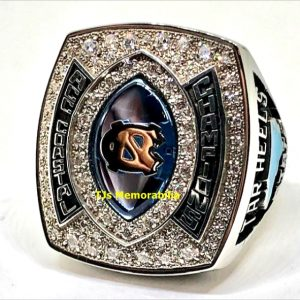 2015 NORTH CAROLINA TAR HEELS FOOTBALL ACC COASTAL CHAMPIONSHIP RING