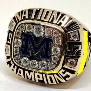 1997 MICHIGAN WOLVERINES FOOTBALL NATIONAL CHAMPIONSHIP RING